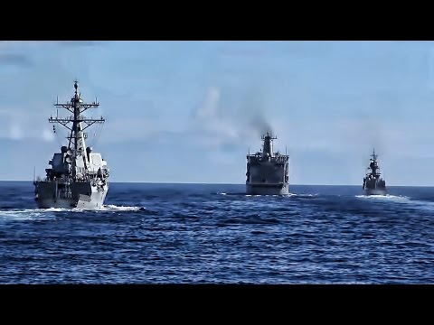 Canadian Navy Ship • Replenishment-At-Sea RIMPC 2016