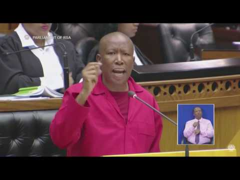 Julius Malema addresses Parliament ahead of the vote of no confidence
