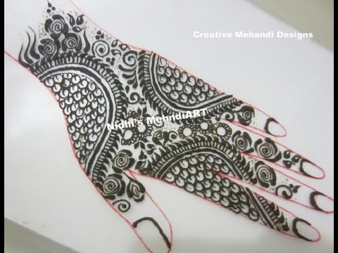 Bridal Mehndi Training : Traditional wedding henna mehndi class for beginners with step by