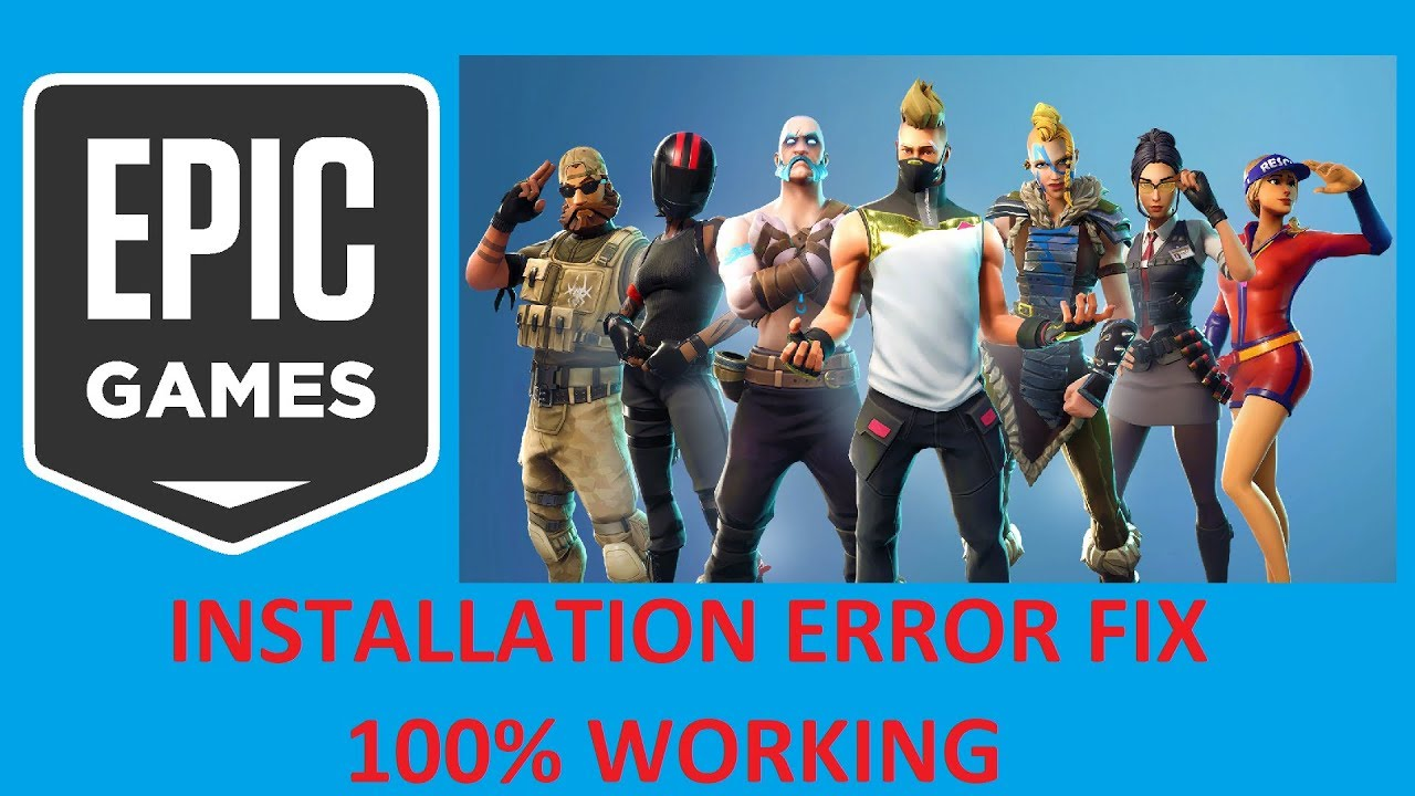 epic games launcher installation error 100 working fix fortnite - fortnite installer epic games pc