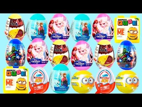 Frozen MinionsVídeos Sorpresa Y Kinder De 18 Huevos 34Lq5ARj
