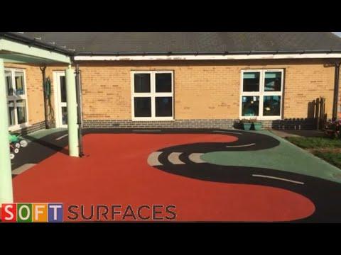 Nursery School Wetpour Surfacing Repair in Portsmouth, Hampshire   Wetpour Repair