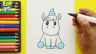 Cómo Dibujar un unicornio  de Arcoiris  - How to Draw pony - Dibujos Cute - Easy Art