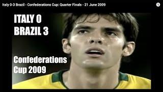 Italy 0-3 Brazil - Confederations Cup: Quarter Finals - 21 June 2009