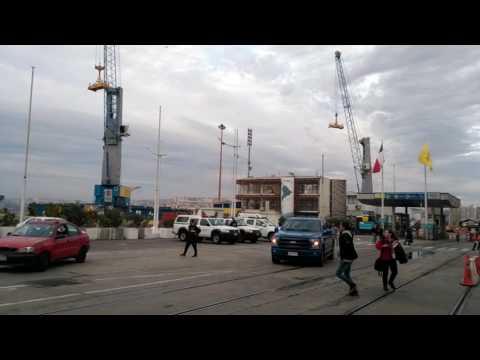 Alerta de Tsunami Post Terremoto 7.1, desde Muelle Prat Valparaíso Chile 24/04/2017 / Tsunami Alert