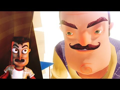 WE UNLOCKED THE NEW BASEMENT WITH A GIANT NEIGHBOR!!! - (Hello Neighbor Boss Fight / Beta 3 Ending)