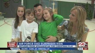 air force dad surprises kids