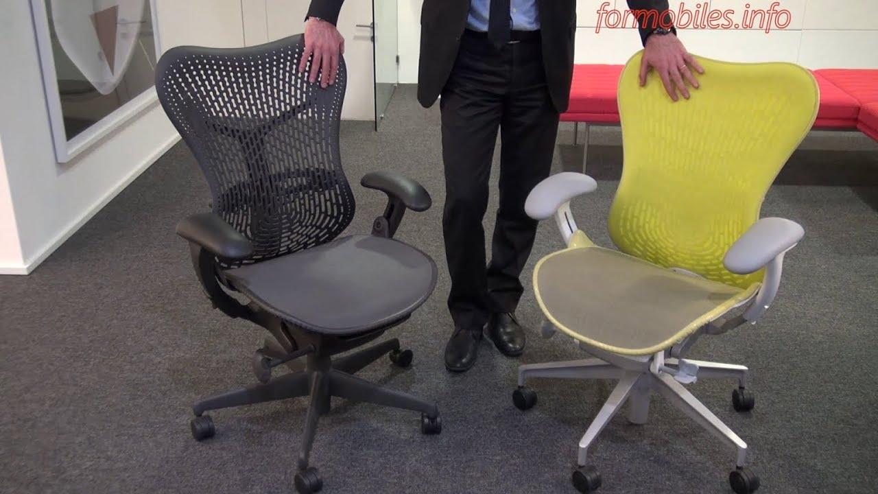 Herman miller mirra 2 vs mirra differenze estetiche e for Chair vs chairman