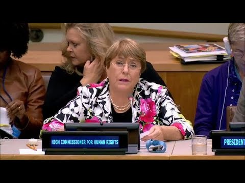 """""""We're facing rising challenges to multilateralism"""" - UN Human Rights Commissioner"""