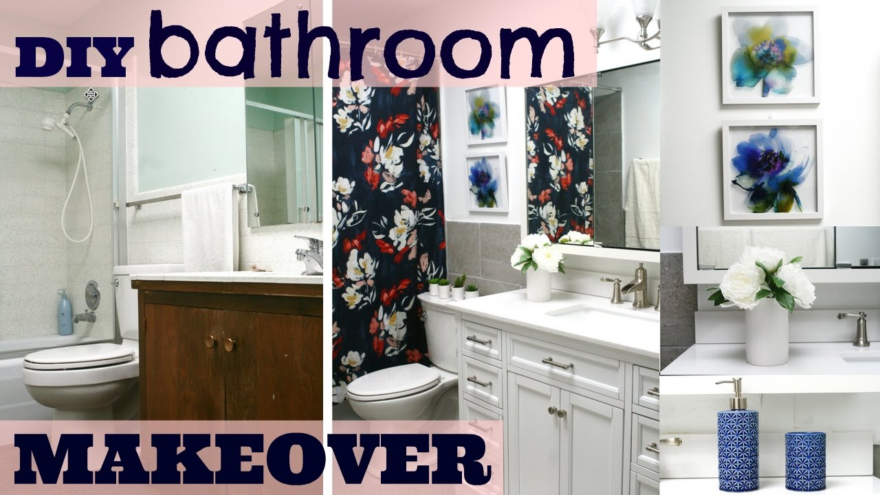 DIY UGLY S BATHROOM TO A SLEEK NEW BATHROOM RENOVATION MAKEOVER - 70s bathroom remodel