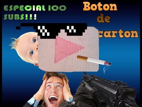 BOTON DE CARTON SI EXISTE |ESPECIAL 100 SUBS ||YTROD
