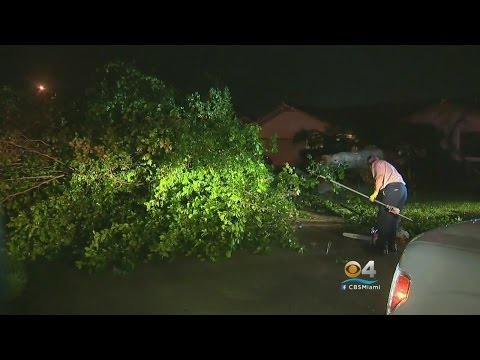 Nasty Storm Passes Through Davie, Pembroke Pines & Causes Damage