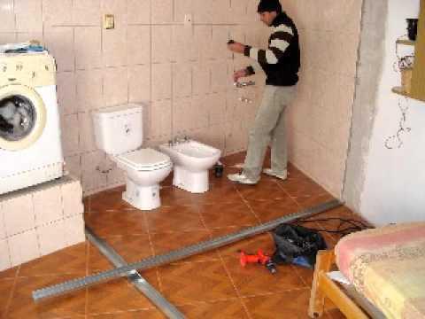 Trabajo en durlock youtube - Revestir pared exterior ...