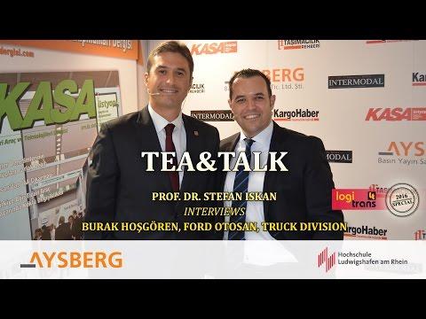 Tea & Talk logitrans 2016: Prof. Dr. Stefan Iskan interviews Burak Hosgören
