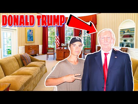 HE GAVE US A PRIVATE TOUR (PRESIDENT DONALD TRUMP)