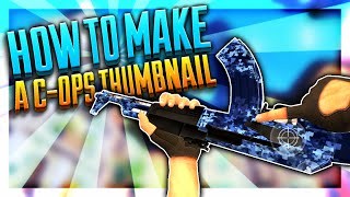 How To Make a YouTube Thumbnail Using Photoshop Touch (C-OPS Style)