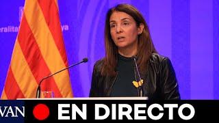 DIRECTO: Meritxell Budó informa sobre los acuerdos de Govern
