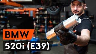 Montering Drivstoffilter bensin og diesel BMW 5 SERIES: videoopplæring