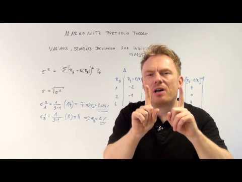 markowitz portfolio theory variance and standard deviation cfa-course.com