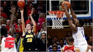 Top 10 plays of Saturday include Zion dunk, Iowa game winner | College Basketball Highlights
