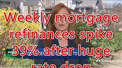 Weekly mortgage refinances spike 39% after huge rate drop