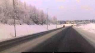 Christmas in Norway! driving from Hamar - Gjøvik part2