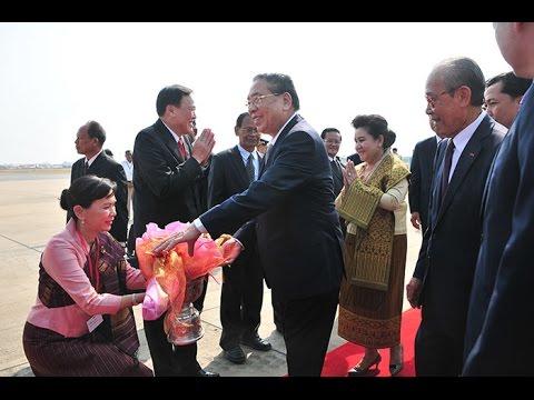 2015 02 26 HE  Choummaly Sayasone President of the Lao Peopls Democratic Republic and Madam