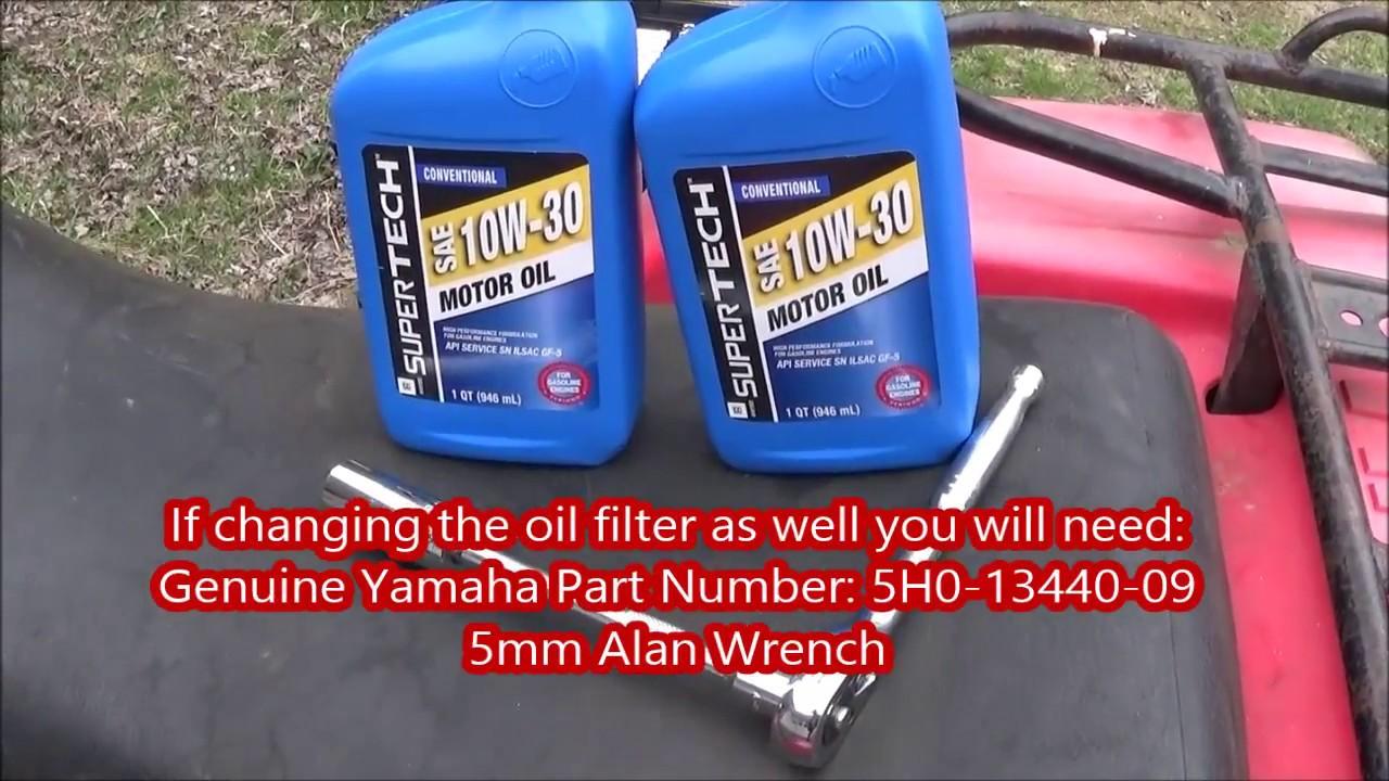 how to change the oil on a yamaha yfm225 moto 4 four wheeler atv [ 1280 x 720 Pixel ]