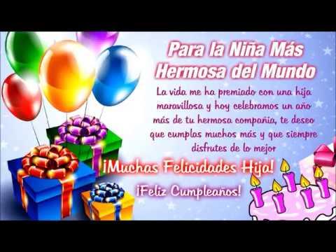 felicitaciones de cumpleaños para una hija - YouTube
