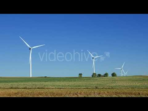 Wind Turbines Renewable Energy Generation | Stock Footage - Videohive