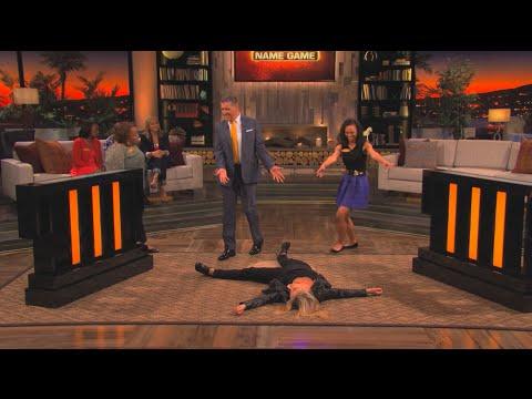 Teri Polo HIT the floor!  Celebrity Name Game