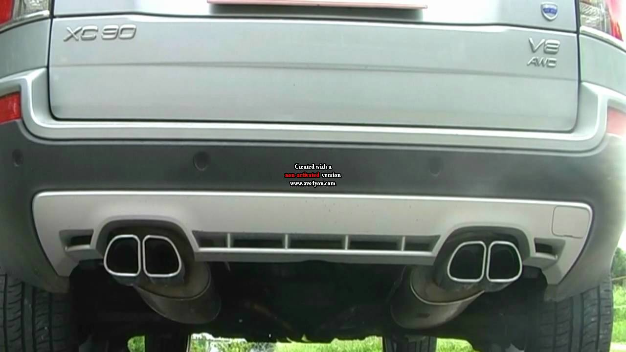 Volvo XC90 V8 4 end exhaust look at NEW Video !!! - YouTube