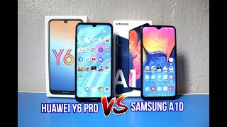 SAMSUNG A10 Vs HUAWEI Y6 PRO (ML,PUBG,CAMERA,BATTERY,HEATING) COMPARISON REVIEW