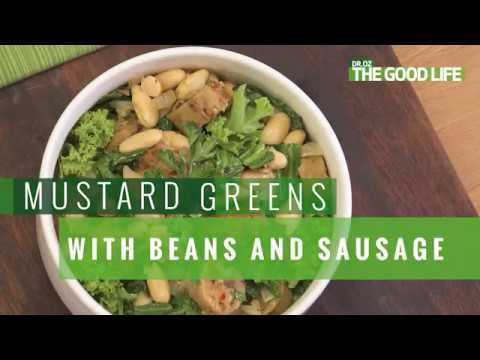 How to Make Mustard Greens With Beans and Sausage