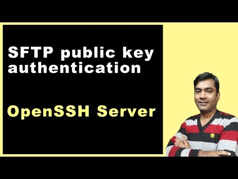 SFTP Public Key Authentication - How To Create Public And Private Keys (Hindi)