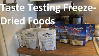 Survival Food - Taste Testing Mountain House Meals!