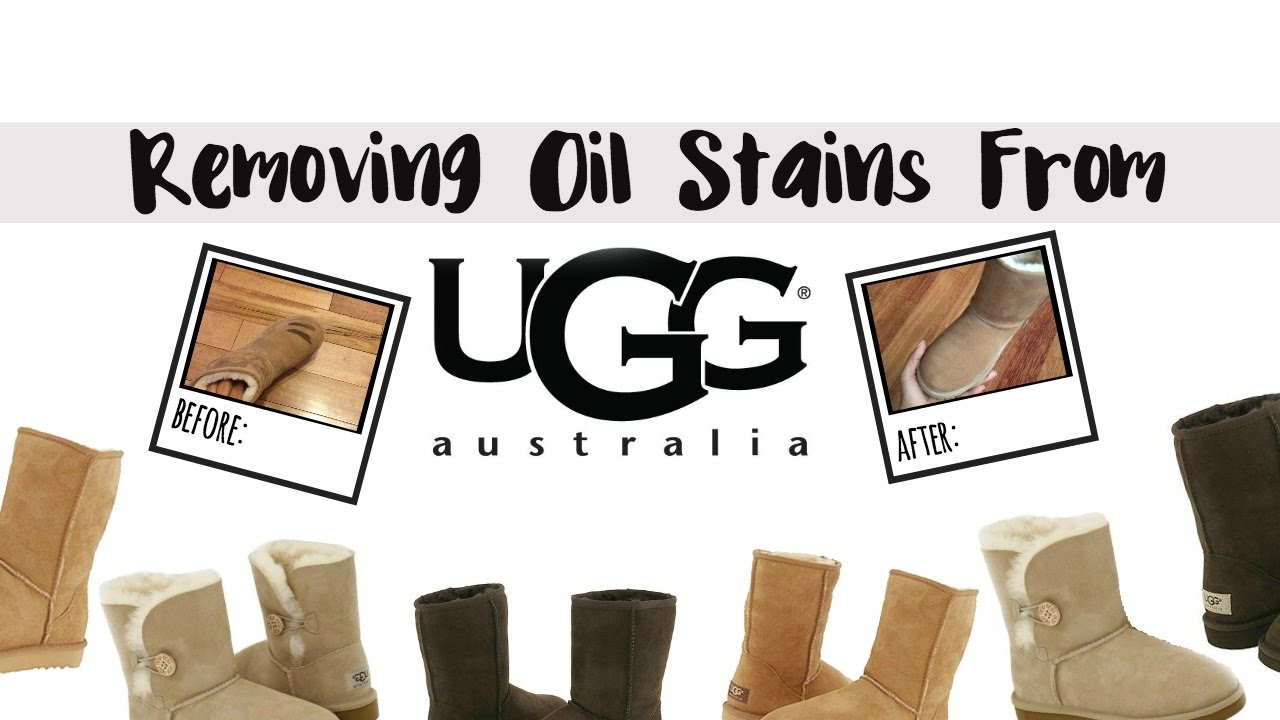how to remove oil grease stains from uggs youtube. Black Bedroom Furniture Sets. Home Design Ideas