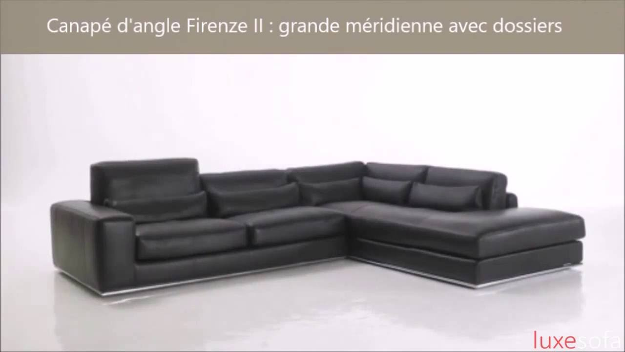 canap d 39 angle haut de gamme 100 cuir youtube. Black Bedroom Furniture Sets. Home Design Ideas