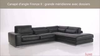 Luxesofa.com canapé d'angle haut de gamme 100% cuir
