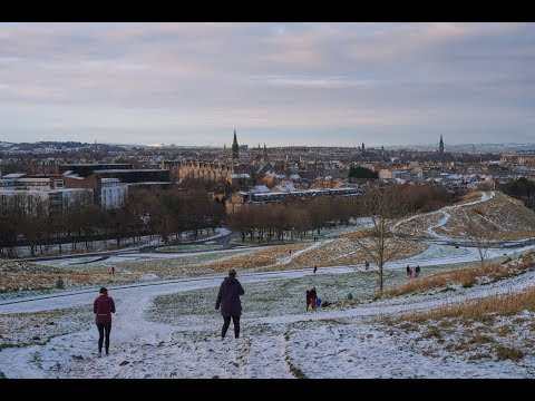 Holyrood Park: covered in snow