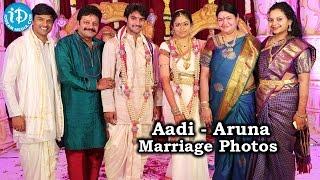 Hero Aadi and Aruna Wedding Photos