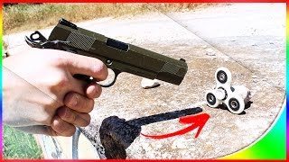 HAND SPINNER VS AIRSOFT !