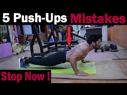 5 Push-Ups Mistakes Never Do | How to do Perfect Push Up (Home/Gym)