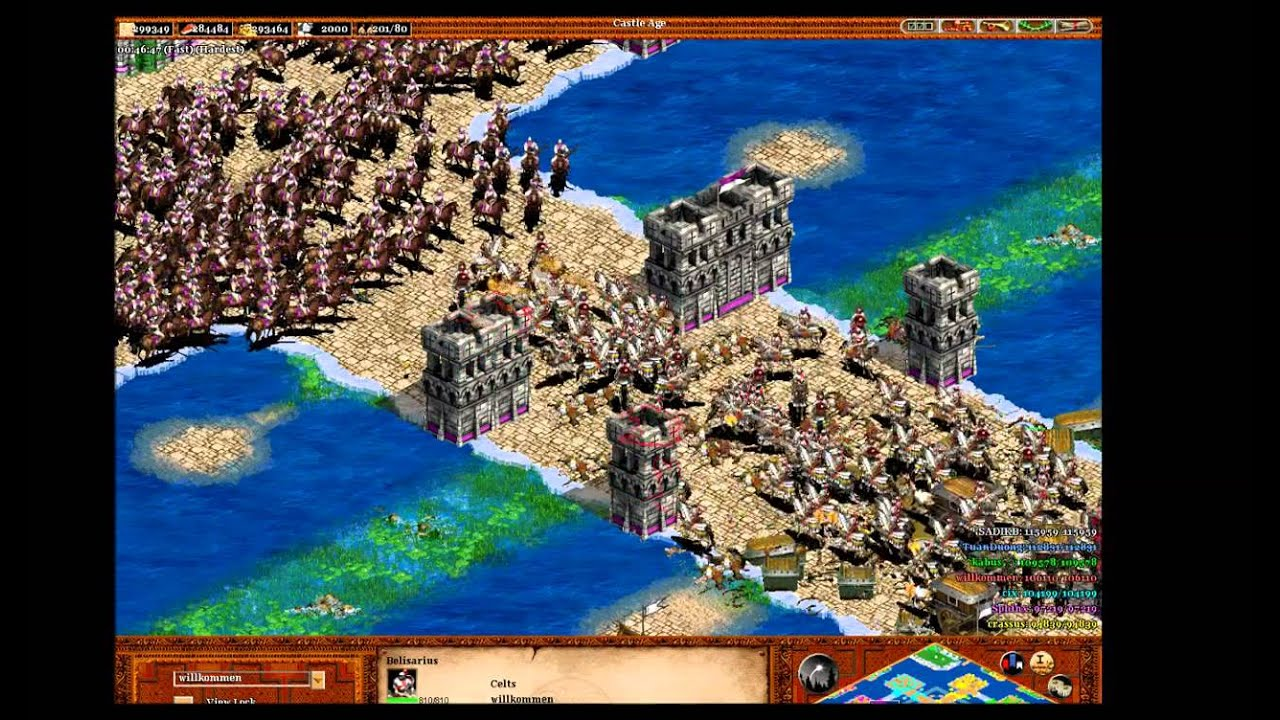age of empires 2 how to get to castle age