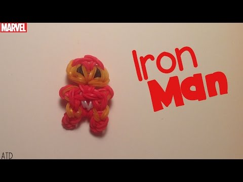 Rainbow Loom Iron Man Charm | Marvel | Tidbits Series