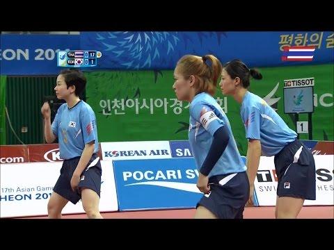 ตะกร้อหญิง ไทย-เกาหลี Group C 2014 ASIAN GAMES