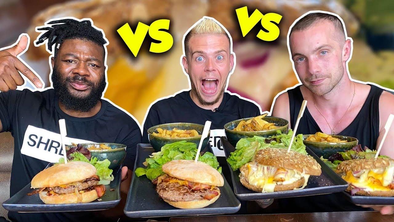 QUI DE NOUS 3 MANGERA LE PLUS ?! TENDERS + BIG BURGERS ! (Feat @MakassyOfficiel et @Steffel palitta)