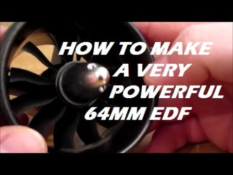 GoolRC 2968 3400kv Motor 64mm EDF Thrust Test Motor test of