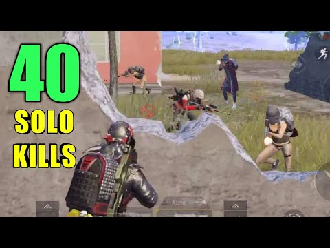 40 SOLO KILLS NEW WORLD RECORD | SOLO VS SQUAD | PUBG MOBILE