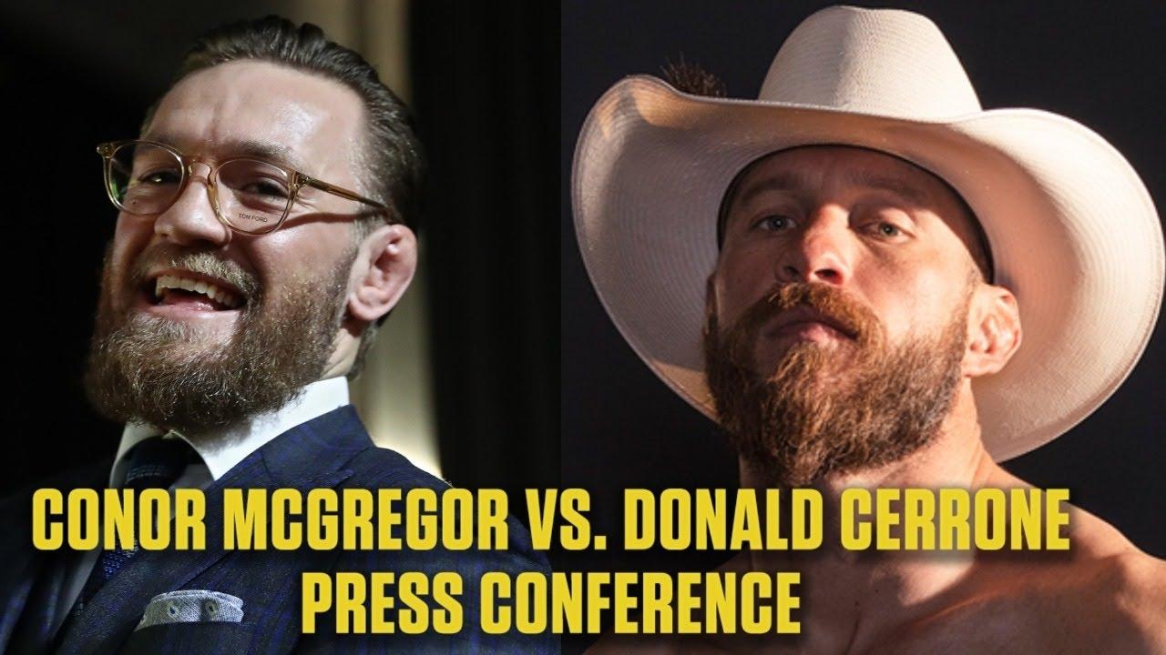 Conor Mcgregor Vs Donald Cowboy Cerrone Ufc 246 Press